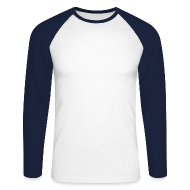 Long sleeve shirts ~ Men's Long Sleeve Baseball T-Shirt ~ Long Sleeve Baseball Tee