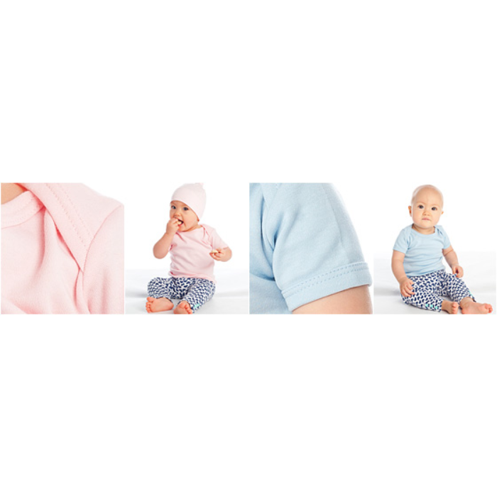 Babys økologisk T-skjorte med korte ermer