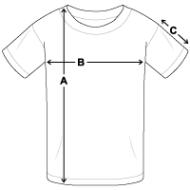 schema des mesures T-shirt bio Enfant