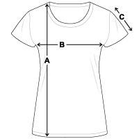 Größentabelle Frauen T-Shirt
