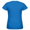 NULLVIER Frauen Shirt Retro blau - Frauen T-Shirt