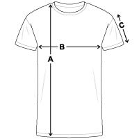 Größentabelle Männer Bio T-Shirt