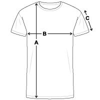 Größentabelle Männer Kontrast-T-Shirt