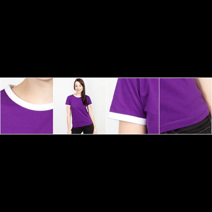 Kontrast-T-skjorte for kvinner