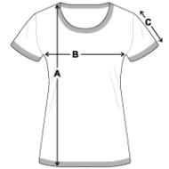 schema des mesures T-shirt contrasté Femme
