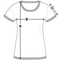 Größentabelle Frauen Kontrast-T-Shirt