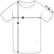 schema des mesures T-shirt Ado