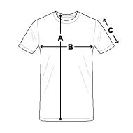 schema des mesures T-shirt Premium Homme
