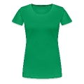 Irish girl in shamrock hat -9 Women's Premium T-Shirt