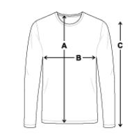 Größentabelle Männer Premium Langarmshirt