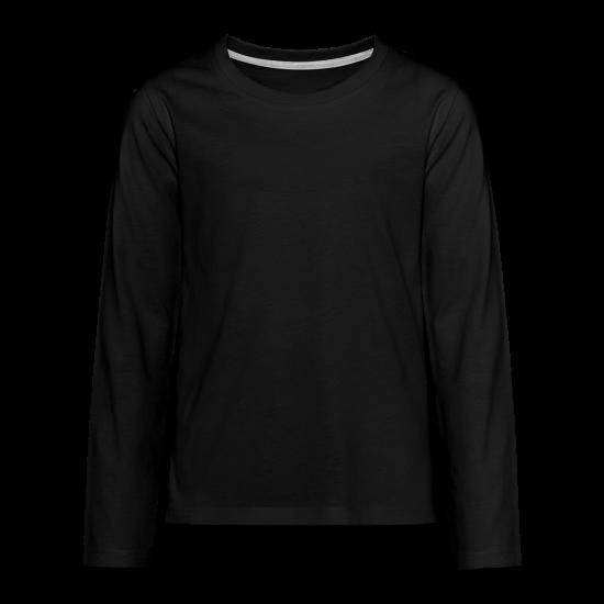 Premium langermet T-skjorte for tenåringer