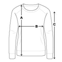 Größentabelle Frauen Bio-Sweatshirt Slim-Fit