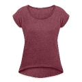 shopping girl Women's T-shirt with rolled up sleeves
