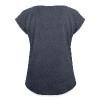 Ein Einhornpopel. - Frauen T-Shirt mit gerollten Ärmeln