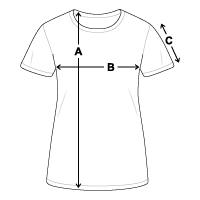 Größentabelle Frauen T-Shirt atmungsaktiv