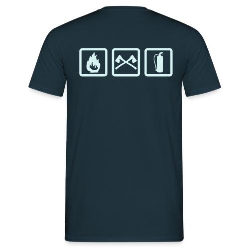 Männer T-Shirt: 3 Feuerwehrzeichen - Männer T-Shirt