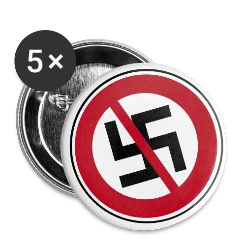 Anstecker gegen Nazis - Buttons groß 56 mm