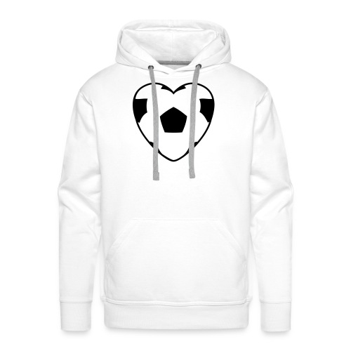 Heartball, Hood (black) - Men's Premium Hoodie