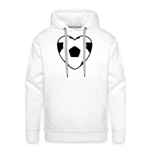 Heartball, Hood (black) - Men's Premium Hoodie