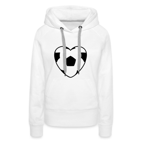 Heartball, Hood (black) - Women's Premium Hoodie
