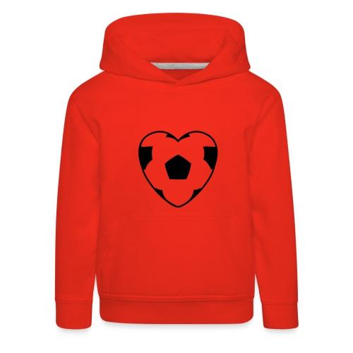 Heartball, Hood (black) - Kids' Premium Hoodie