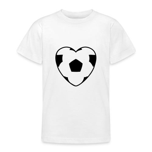 Heartball (black) - Teenage T-shirt
