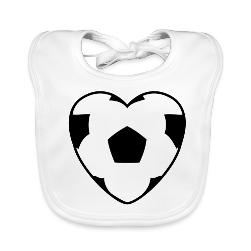 Heartball, Babybib (black) - Baby Organic Bib