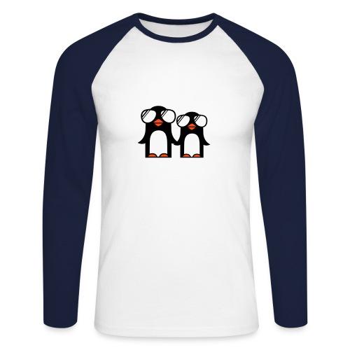 Pinguinos - Raglán manga larga hombre