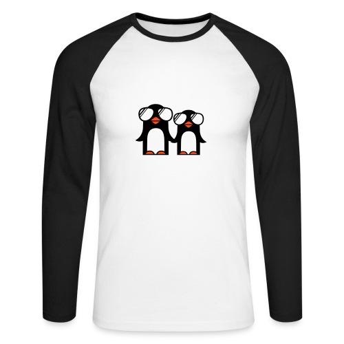 Pinguinos negra - Raglán manga larga hombre