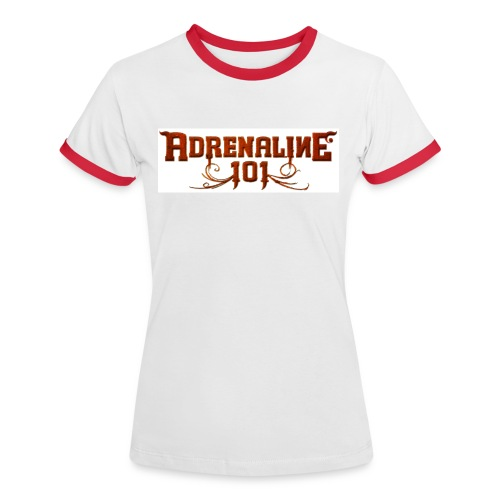 A101 Girlieshirt Contrast WHITE/RED  - Women's Ringer T-Shirt