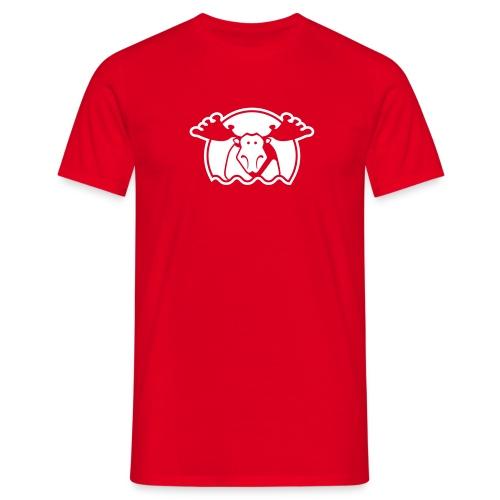 Elg - rød - Männer T-Shirt