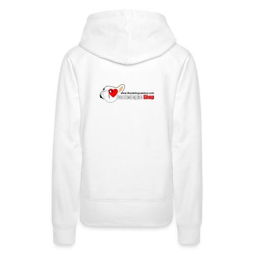 Logo Bouledogue Shop - Sweat-shirt à capuche Premium pour femmes