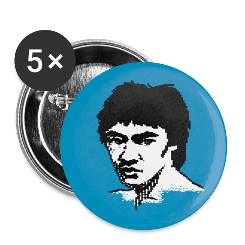 Bruce-Lee-Button - Buttons klein 25 mm (5er Pack)