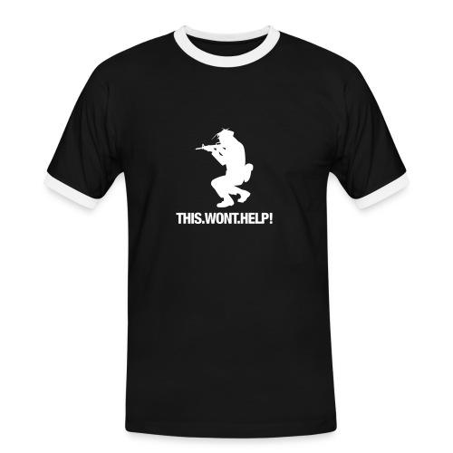 This.Wont.Help! - Männer Kontrast-T-Shirt