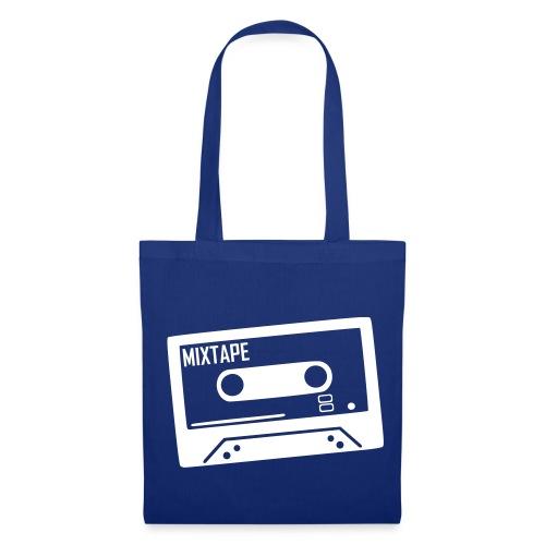 Stofftasche my favourite tape blau - Stoffbeutel