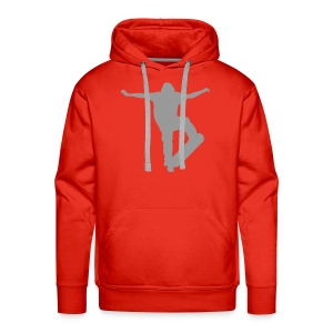 SKATER ON FRONT, SKATERBOY ON BACK - Men's Premium Hoodie
