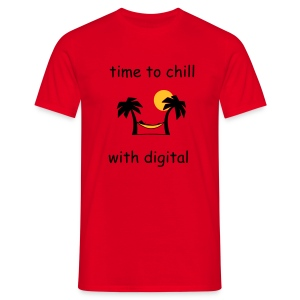 chill with digital t-shirt - Men's T-Shirt