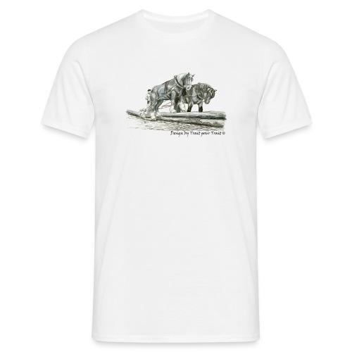 A deux sur les troncs - t-shirt basique homme - T-shirt Homme