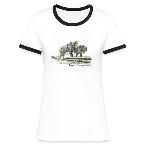 A deux sur les troncs - femme - T-shirt contrasté Femme