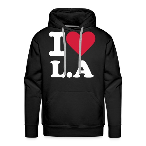 I LOVE LOS ANGELES - Sweat-shirt à capuche Premium pour hommes