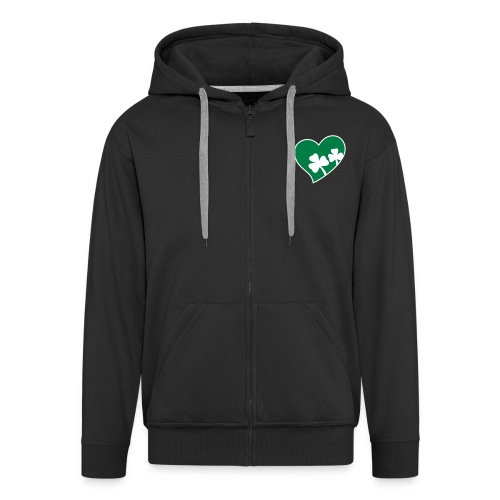 Men's Ireland Heart Hooded Jacket - Men's Premium Hooded Jacket