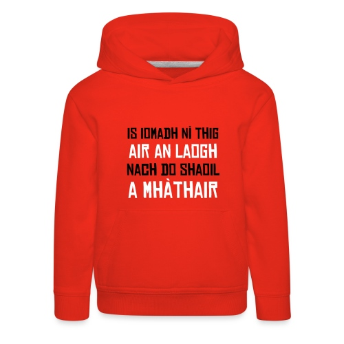Child's Laogh Hoodie - Red/Black/White - Kids' Premium Hoodie