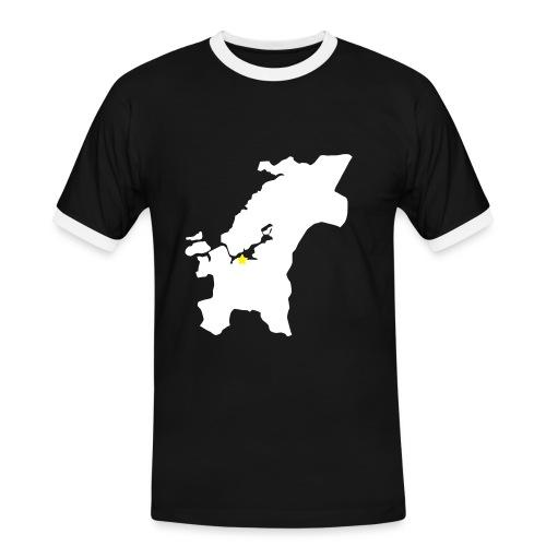 Nasjon Trøndelag - Kontrast-T-skjorte for menn