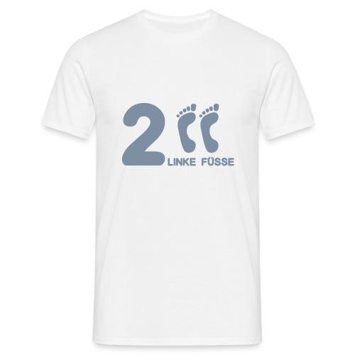 Fun-Shirt - 2 linke Füße - Männer T-Shirt