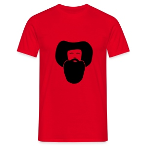 Andreas Hofer Rot, Flockdruck Schwarz - Männer T-Shirt