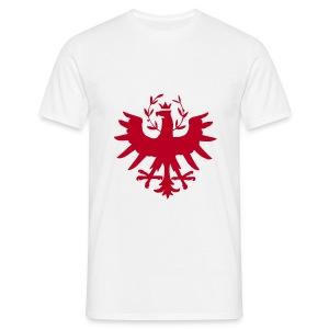 Tiroleradler Weiß, Flockdruck Rot - Männer T-Shirt