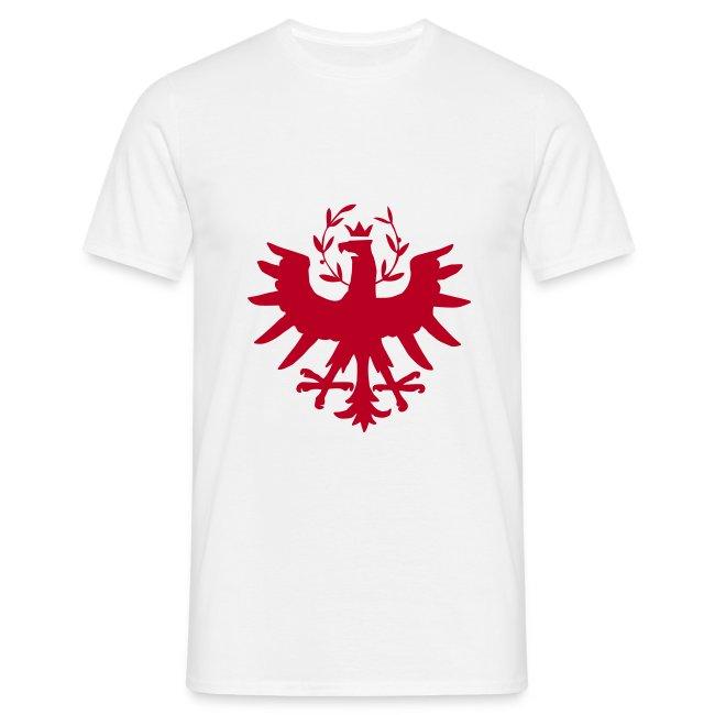 Tiroleradler Weiß, Flockdruck Rot