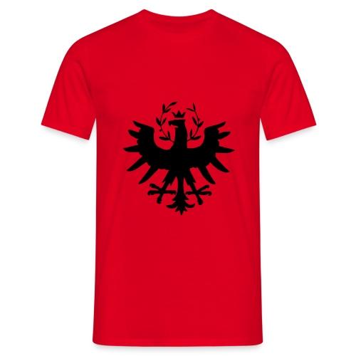 Tiroleradler Rot, Flockdruck Schwarz - Männer T-Shirt