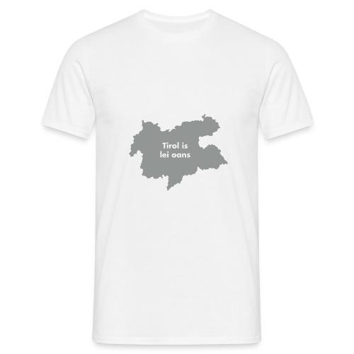 Tirol is lei oans, Flockdruck Weiß - Männer T-Shirt