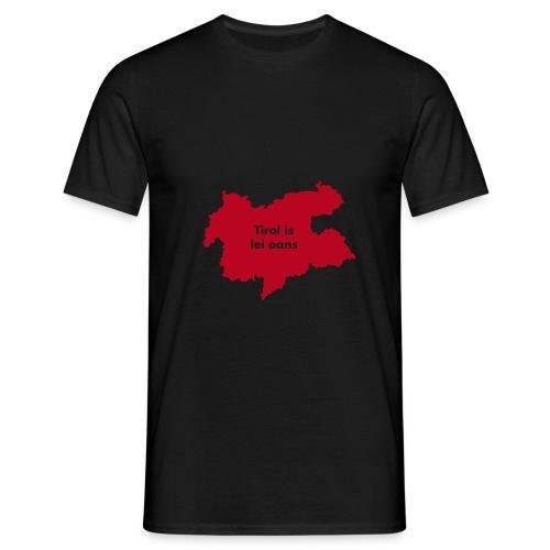 Tirol is lei oans, Flockdruck Rot, versch. Farben - Männer T-Shirt